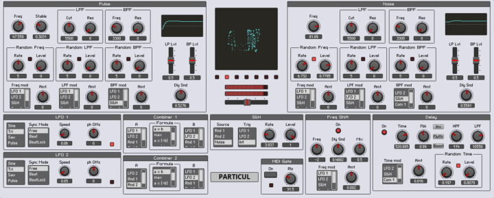 Particul released (Reaktor noisebox/sound generator)